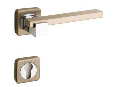 Plus Line Brass Door Handle on Square Rosette Fashion Line PFS Pasini