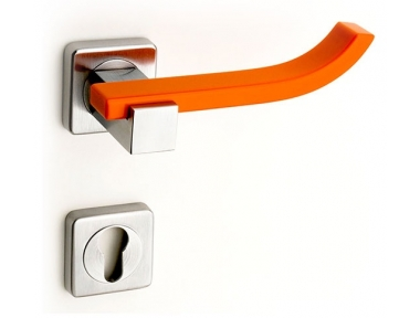 Plus Up Corian Mandarin Door Handle on Square Rosette Fashion Line PFS Pasini