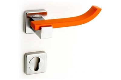 Plus Up Corian Mandarin Door Handle on Square Rosette Fashion Line PFS Pasini