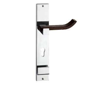 Plus Up Wenghe Wood Door Handle on Plate Fashion Line PFS Pasini