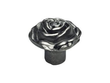 Classic Cabinet Knob Linea Calì Rose PB with Aged Iron Brass Finishing
