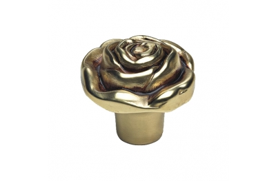 Classic Cabinet Knob Linea Calì Rose PB with French Gold Finishing