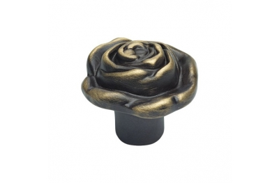 Classic Cabinet Knob Linea Calì Rose PB with Matt Bronze Finishing