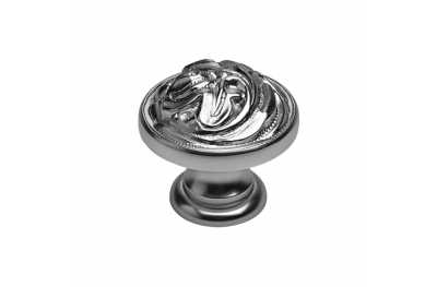 Classic Cabinet Knob Linea Calì Vintage PB with Antique Silver Finishing