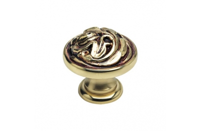 Classic Cabinet Knob Linea Calì Vintage PB with French Gold Finishing