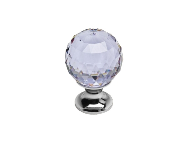 Cabinet Knob Linea Calì Crystal CR with Swarowski® Violet