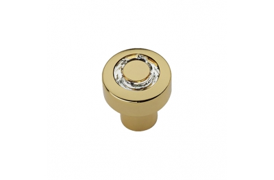 Cabinet Knob Linea Calì Cosmic Crystal OZ with Swarowski® Gold Plated