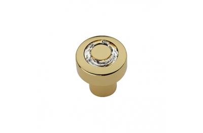 Cabinet Knob Linea Calì Cosmic Crystal OZ with Swarowski® Gold Plated