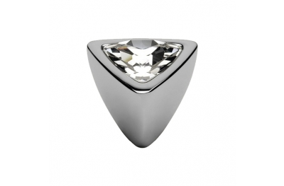 Cabinet Knob Linea Calì Crystal 324 PB CR with Swarowski Polished Chrome