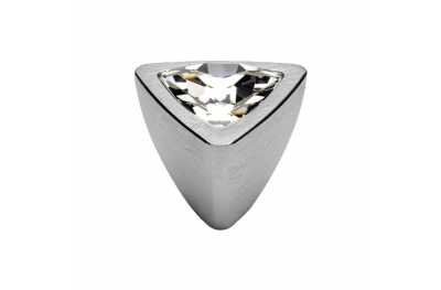 Cabinet Knob Linea Calì Crystal 324 PB CS with Swarowski Satin Chrome