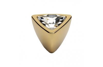 Cabinet Knob Linea Calì Crystal 324 PB OZ with Swarowski Gold Plated