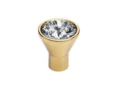 Cabinet Knob Linea Calì Crystal Diamante OZ with Swarowski® Gold Plated