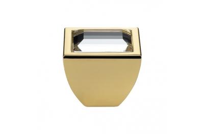 Cabinet Knob Linea Calì Elios Crystal PB with Swarowski® Gold Plated