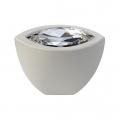 Cabinet Knob Linea Calì Elipse Crystal with Swarowski® Matt White