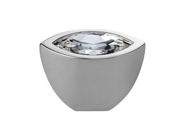Cabinet Knob Linea Calì Elipse Crystal PB with Swarowski® Polished Chrome