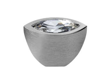 Cabinet Knob Linea Calì Elipse Crystal PB with Swarowski® Satin Chrome