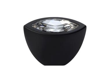 Cabinet Knob Linea Calì Elipse Crystal PB with Swarowski® Matt Black
