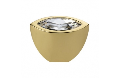 Cabinet Knob Linea Calì Elipse Crystal PB with Swarowski® Gold Plated