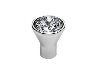 Cabinet Knob Linea Calì Crystal Diamante CR with Swarowski® Polished Chrome