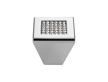 Furniture Knob Linea Calì Mesh Crystal PB with Mesh Swarowski® Polished Chrome