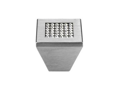 Furniture Knob Linea Calì Mesh Crystal PB with Mesh Swarowski® Satin Chrome