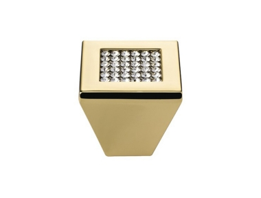 Furniture Knob Linea Calì Mesh Crystal PB with Mesh Swarowski® Gold Plated