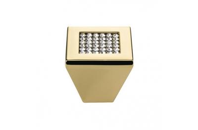 Furniture Knob Linea Calì Mesh Crystal PB with Mesh Swarowski® Gold Plated