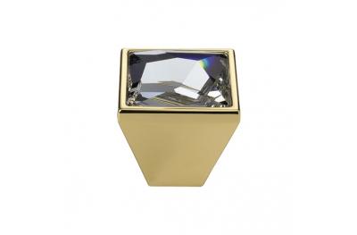 Cabinet Knob Linea Calì Pop-Art PB with Swarowski® Gold Plated