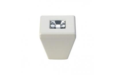 Cabinet Knob Linea Calì Reflex PB with Swarowski® Matt White