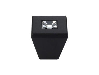 Cabinet Knob Linea Calì Reflex PB with Swarowski® Matt Black