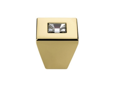 Cabinet Knob Linea Calì Reflex PB with Swarowski® Gold Plated