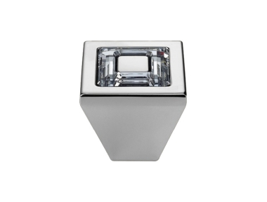Cabinet Knob Linea Calì Ring Crystal PB with Swarowski® Polished Chrome