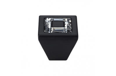 Cabinet Knob Linea Calì Ring Crystal PB with Swarowski® Matt Black