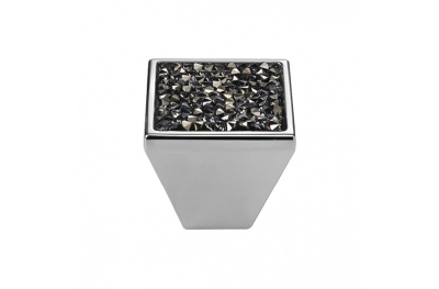 Cabinet Knob Linea Calì Rocks PB with Grey Swarowski® Polished Chrome