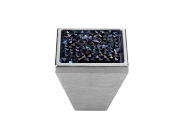 Cabinet Knob Linea Calì Rocks PB with Blue Swarowski® Satin Chrome