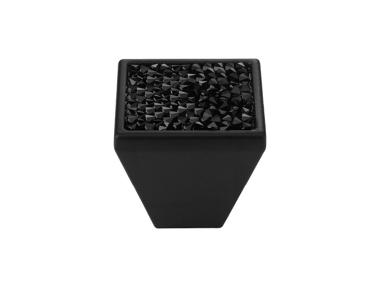 Cabinet Knob Linea Calì Rocks PB with Black Jet Swarowski® Matt Black