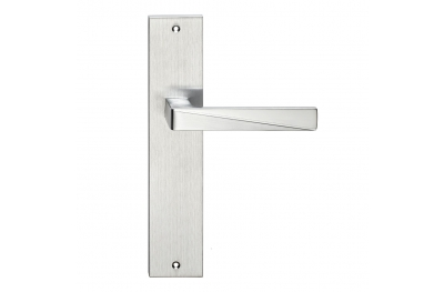 Prisma Series Fashion forme Door Handle on Plate Frosio Bortolo With Particular Cut