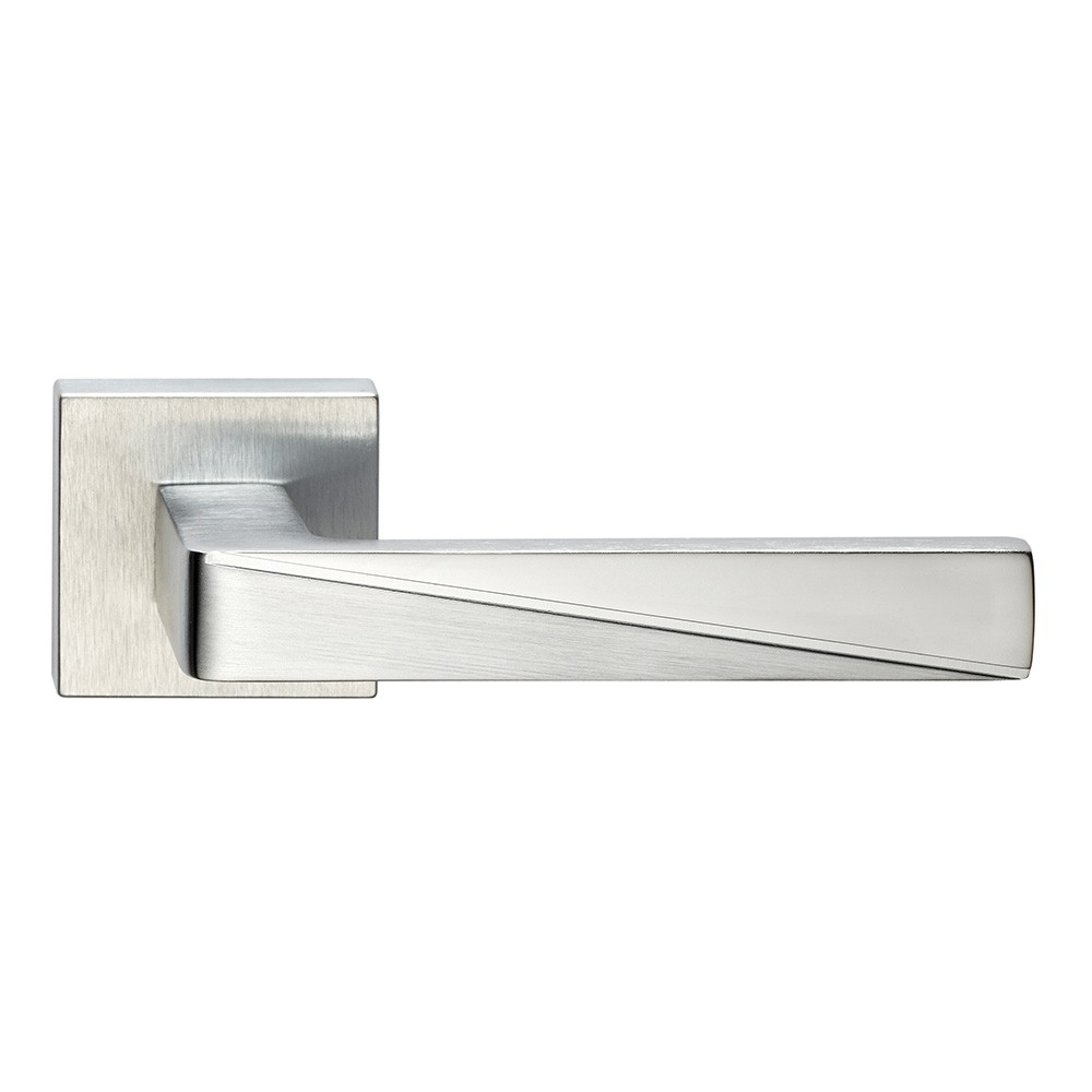 Prisma Series Fashion forme Door Handle on Square Rosette Frosio Bortolo With Particular Cut