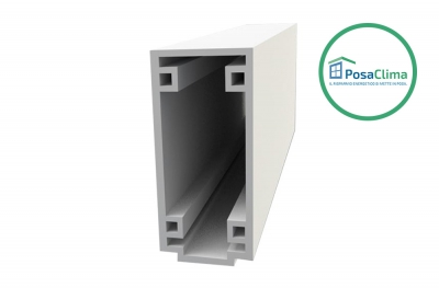 Lower Traverse Small PosaClima Extruded PVC Boxed Profile