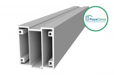 Lower PVC Profile for Window Thermal Counterframe Klima PosaClima