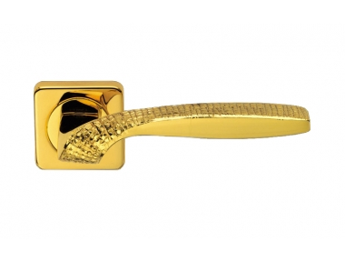 Quadrata Stone Jewellery PFS Pasini Door Handle with Rose and Escutcheon