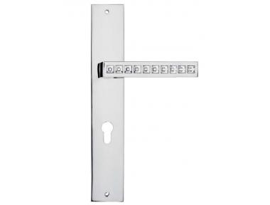 Reflex Door Handle on Plate Linea Calì Crystal