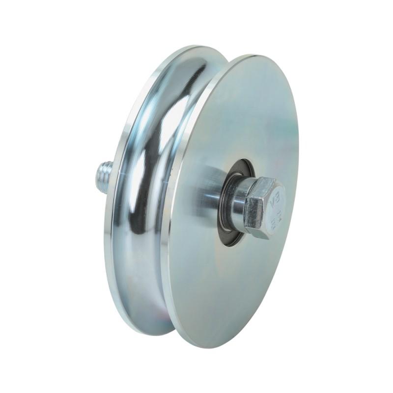 Wheel Round Groove 2 Bearings Sliding Gate Combiarialdo