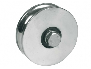 Wheel for Sliding Gates 1 Ball Bearing U Round Groove Ø20 IBFM