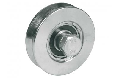 Wheel for Sliding Gates 2 Ball Bearings V Groove Various Diameters IBFM
