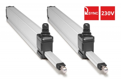 S80 Topp 230V Syncro Couple of Actuators for Top-hung Windows 800N 2 Push points