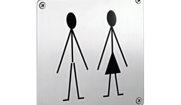 Buy pba 2045 WC Pictogram in Stainless Steel AISI 316L 316L | Windowo
