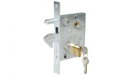 Lock with Hook for Sliding Gates Galvanized Steel IBFM