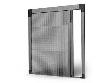 SharkNet 04 Pleated Insect Screen with 4mm Strip Without any Obstacle on the Floor