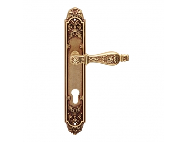 Siracusa Series Epoque forme Door Handle on Plate Frosio Bortolo Made in Italy